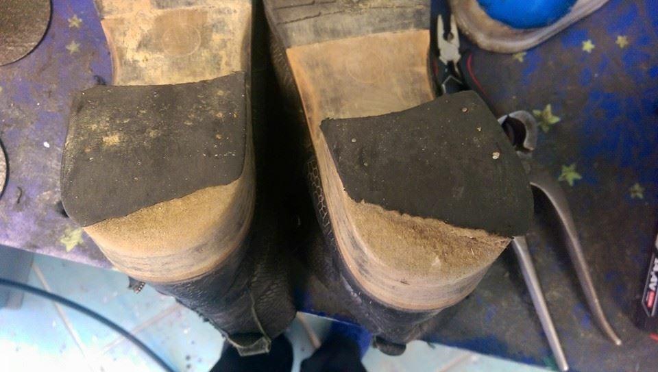 Réparation, rénovation et entretien de chaussures et de semelles